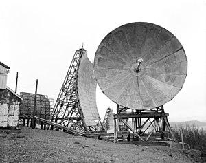 White Alice Communications System - Image: Boswell Bay White Alice Communications System Site Tropospheric Antennas