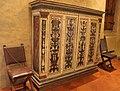 Bottega senese, armario con ante dipinte da bartolomeo di david, 1530 ca. (restauri del XIX sec) 01.JPG