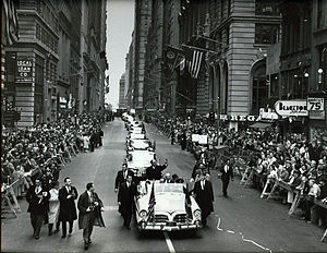 Tunisia–United States relations - Reception of President Habib Bourguiba in the streets of New York in 1961.