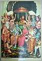 Brahma and Shiva (and Ganesh) join the crowd of deities worshipping the enthroned couple.jpg