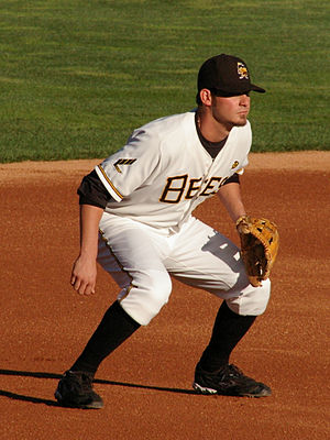 Brandon Wood - Wood playing for the Salt Lake Bees in 2009