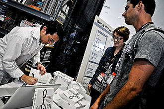 Brian Solis - Brian Solis signing a book at SXSW in Austin, TX, March 13, 2011.