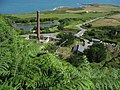 Brickworks chimney from the top of the quarry - geograph.org.uk - 895790.jpg