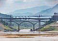 Bridges under construction in Fengdu, Chongqing 20150723.jpg