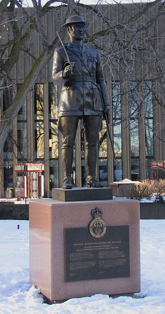 National Arts Centre - Statue of Brigadier Andrew Gault in front of National Arts Centre in Ottawa, Ontario Canada