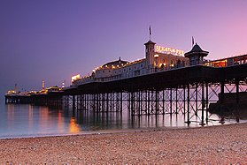 Brighton Palace Pier at dusk