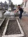 Brissy-Hamégicourt (Aisne) cimetière d'Hamégicourt, tombe soldat 14-18.JPG