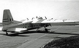 Aer Lingus - A Bristol 170 Freighter at Manchester Airport in 1953.