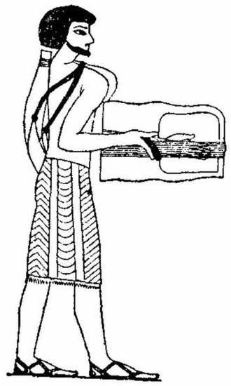 Crwth - Rotta from a 1700 B.C. fresco. Strings have been narrowed, and adding fingerboard would create the crwth and plucked guitar fiddles.