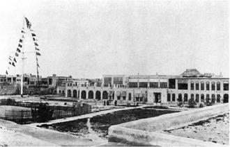 Persian Gulf Residency - British Residency of the Persian Gulf headquarters in Bushehr in 1902.