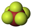 Space-filling model of bromine pentafluoride