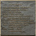 Bronze plaque - Stiftskirche - Stuttgart - Germany 2017.jpg