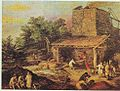 Brueghel Holzkohle-Hochofen Anfang 17. Jahrhundert.jpg