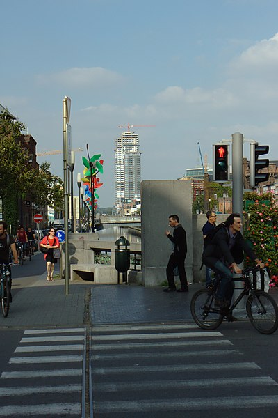 September morning in Brussels at Comte de Flandres/Porte de Flandres, Belgium