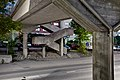 Brutalism of pedestrian overpass of Rasinkatu in Havukoski, Vantaa, Finland, 2021 June.jpg