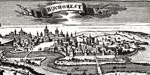 Bucharest - Early 18th-century woodcut (1717)