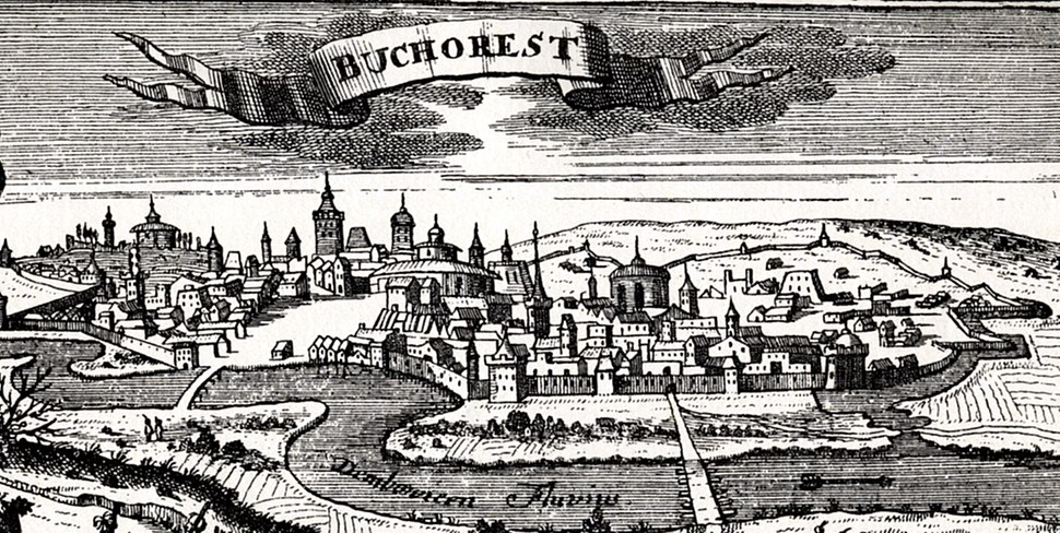 Bucharest, woodcut, published in Leipzig in 1717