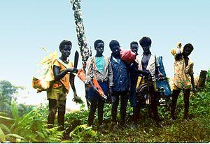 Buin, Papua New Guinea - Buin and Siwai boys visiting Lake Loloru.