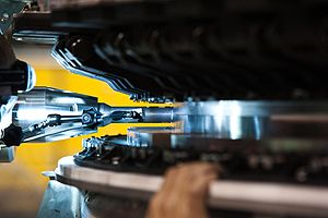 Friction stir welding - The bulkhead and nosecone of the Orion spacecraft are joined using friction stir welding.
