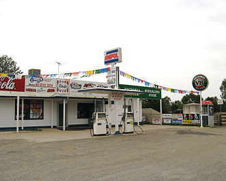 Ampol - This rural store sold Caltex petrol but retained the familiar Ampol branding