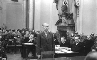Show trial - People's Court in Nazi Germany. Trial of Adolf Reichwein, 1944