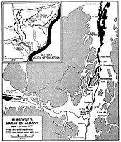 Burgoynes train on Albany, June to October 1777