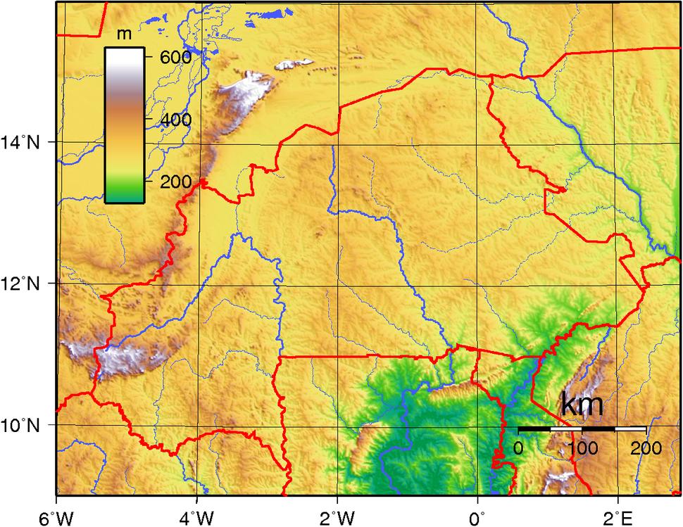 Burkina Faso Topography