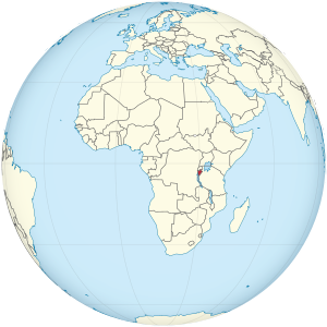 Burundi on the globe (Africa centered).svg