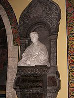 Bust of Izaak Mikołaj Isakowicz in Armenian Cathedral in Lviv 2.jpg