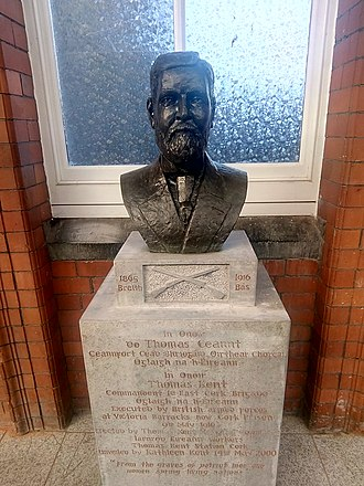 Cork Kent railway station - Bust of Thomas Kent at the station.