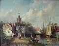 C.H.J. Leickert - Gezicht op een dorp aan een kanaal - AB17823 - Museum Arnhem.jpg