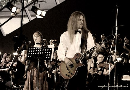 Therion is considered the founding band in the Symphonic metal genre C. Johnsson and L. Lewis.jpg