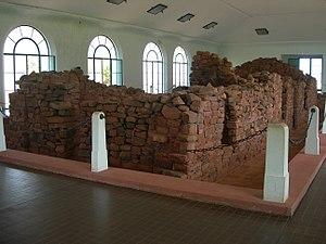 Early life of José de San Martín - Remains of the original house of San Martín, exhibited in 2009