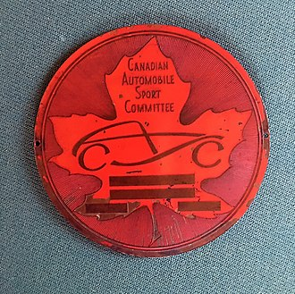 Canadian Automobile Sport Clubs - Logo designed by Jack Luck in 1951 for Marshall Green