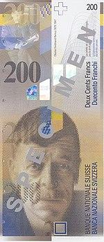 200 Franken Vorderseite