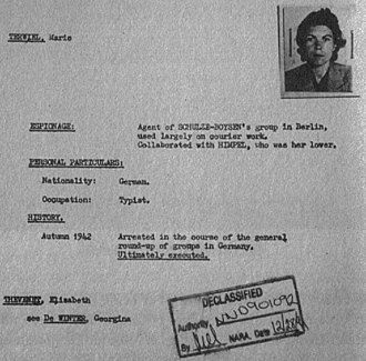 Red Orchestra (espionage) - Counterintelligence Corps 1947 file on Red Orchestra member Maria Terwiel.