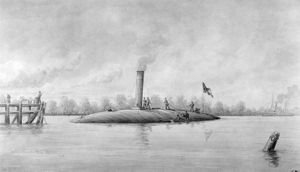 Naval ram -  The radical Confederate steam ram CSS ''Manassas''