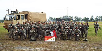 Governor's Guards (Florida) - C Troop at the end of Annual Training, March 2015 Fort Stewart