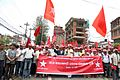 Cadres of the Babruam Bhattarai-led Naya Shakti Nepal marching towards the Dasthrath Stadium.jpg