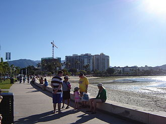 Cairns - Cairns, view of the foreshore.