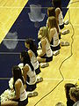 Cal Dance Team at women's volleyball, USC at Cal 11-22-08 2.JPG