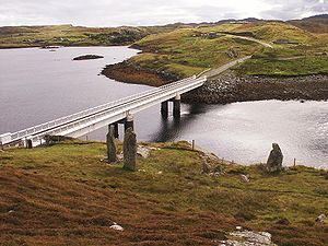 Great Bernera - Tursachan, the Callanish VIII megalithic monument on Great Bernera overlooks the bridge from Lewis.