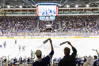 Coca-Cola Coliseum - 2018 Calder Cup Final between the Texas Stars and the Toronto Marlies. The arena was outfitted for ice hockey in the early 21st century.