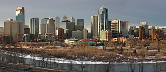 Prince's Island Park (Calgary) - Bow River, Prince's Island Park and Downtown Calgary