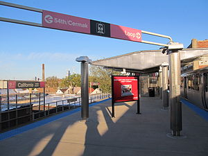 California station (CTA Pink Line) - Image: California CTA Pink Line Station
