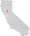 California county map (Sutter County highlighted).svg