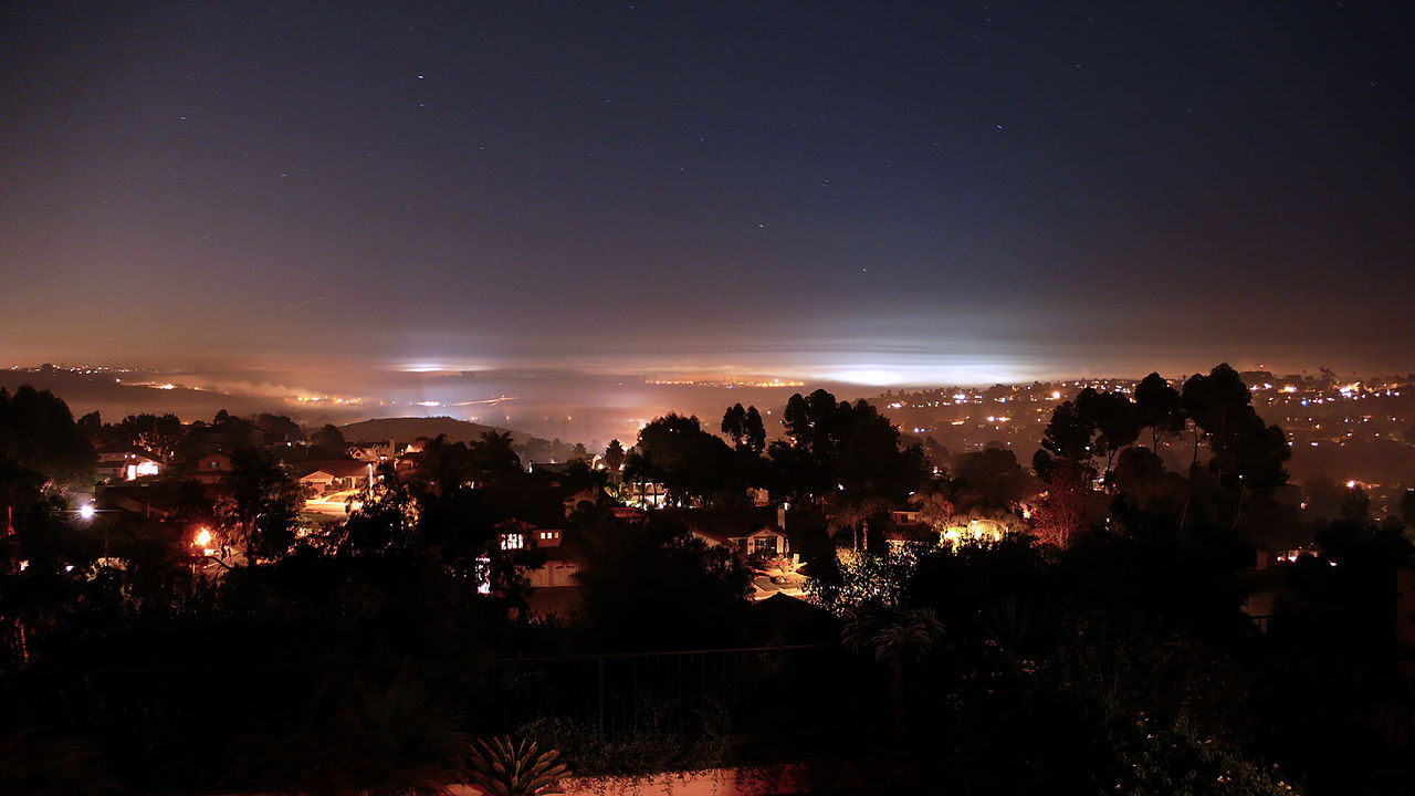 Nighttime view of Carlsbad in 2006