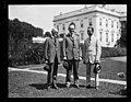 Calvin Coolidge and group outside White House, Washington, D.C. LCCN2016892561.jpg