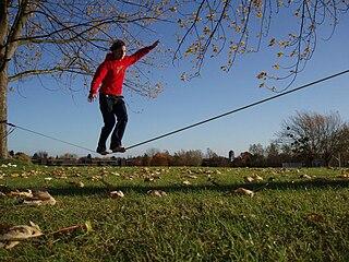 Slacklining Sport similar to tightrope walking