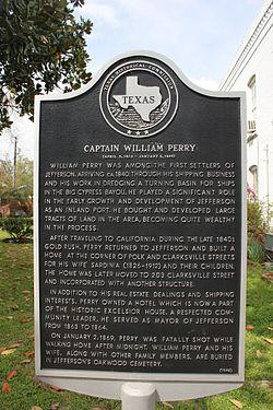 Photo of William Perry black plaque